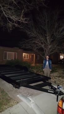 trailer near the driveway